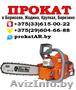 Аренда и прокат бензореза в Борисове,  Жодино,  Крупках,  Березино,  Смолевичах +375